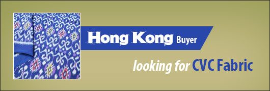 Hong Kong Buyer Lokking for CVC Fabric