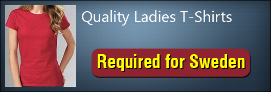 Quality Ladies TShirts Required for Sweden