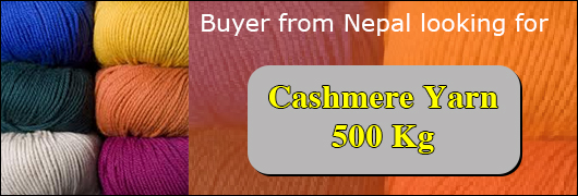 Buyer from Nepal looking for Cashmere Yarn 500 Kg