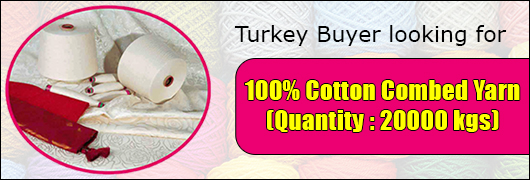 Turkey Buyer looking for Cotton Combed Yarn Manufacturers
