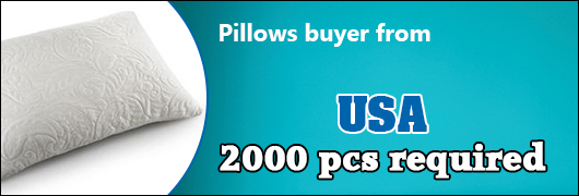 Pillows buyer from USA 2000 pcs required