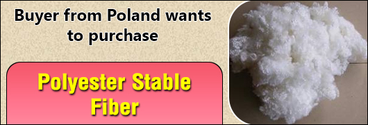 Buyer from Poland wants to purchase Polyester stable fiber