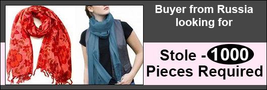Buyer from Russia  looking for Stole - 1000 pieces Required