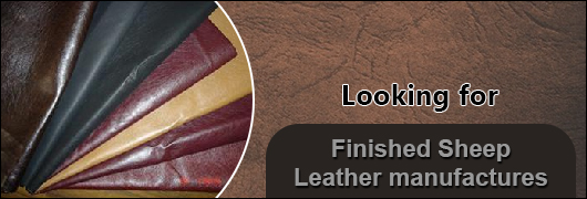 Looking for Finished Sheep Leather manufactures