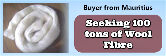 Buyer from Mauritius - Seeking 100 tons of Wool Fibre
