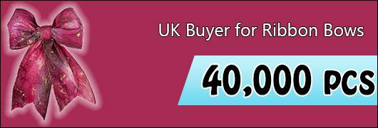 UK Buyer for Ribbon Bows - 40000 pcs