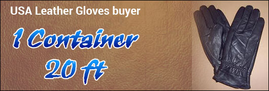 USA Leather Gloves buyer 1 Container 20 ft