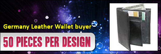 Germany Leather Wallet buyer - 50 pieces per design