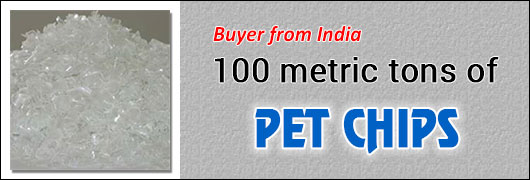 Iran Buyer for 100 metric tons of PET Chips
