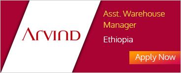 Arvind - Asst Warehouse Manager Ethiopia