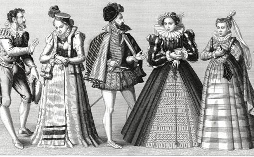 Evolution of French fashion from 16th to 19th century