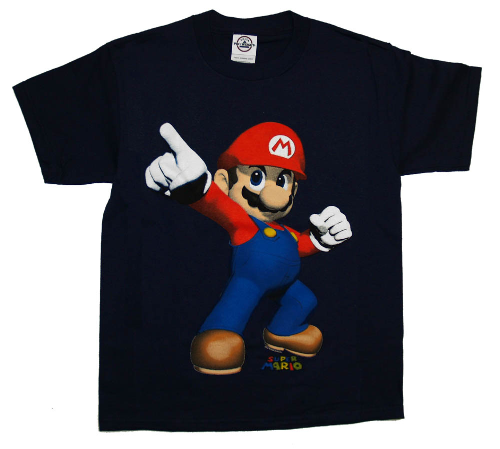 Mario Cartoon Character T Shirts Manufacturers In India