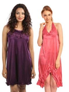 Night dresses (Sleep wear):100% Polyester, 100% Viscose, S-XXL