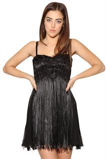 Evening wear:90% Polyester / 10% Spandex, 30,32,34,36