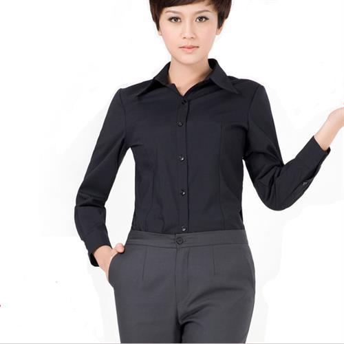 women cotton polyester long sleeve shirt