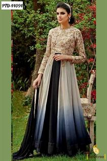 black santoon anarkali salwar suit