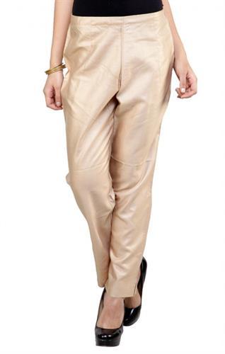 beige cotton casual pants