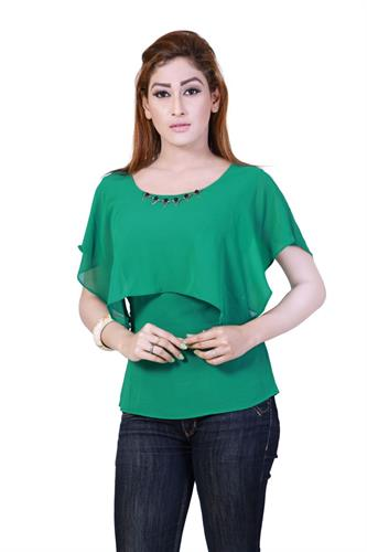 T-shape Georgette Tops