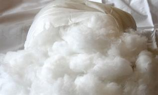 Polyester Staple Fibre (PSF):Raw white, Staple, 7, For pillow filling