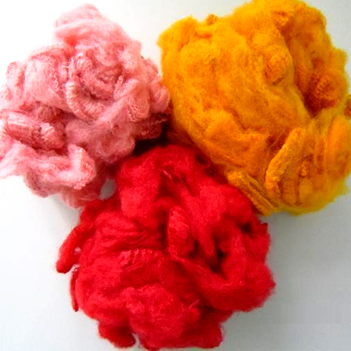 Recycled Dyed Polyester Staple Fiber