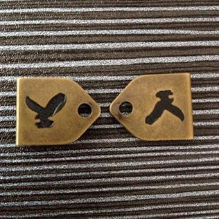 For Garments, 17mm*12.5mm, Brass