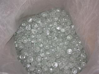 For water treatment, transparent balls