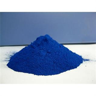 On Wool,Silk & Nylone yarn or Fabric, Blue Powder