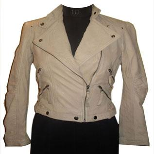 Leather Jackets:Female, Leather Lamb Jacket with soft handfeel