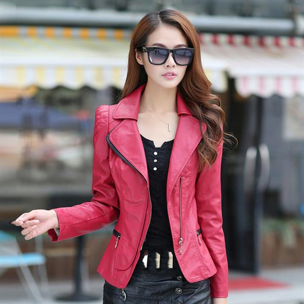 Pink Leather Jackets For Women - Jacket