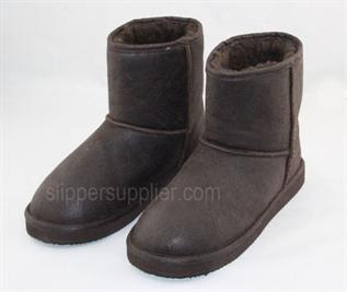 Mens crack microsuede sherpa EVA snow boots
