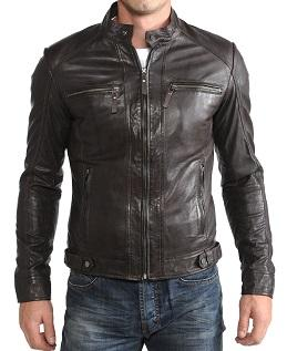 Leather Jackets:For Mens, Material: 100% Soft Lambskin Genuine Leather, All Color Available