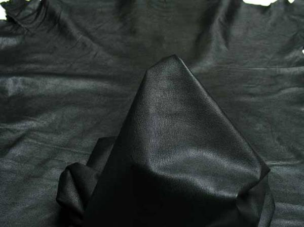 black goat finished leather for garments
