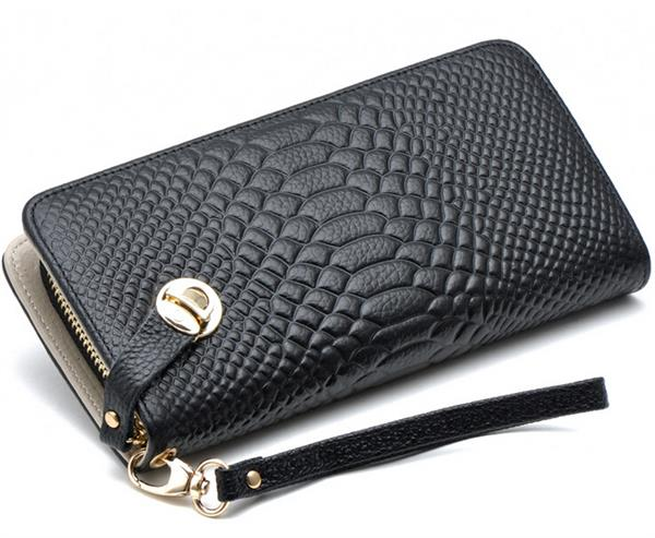 ladies pure leather wallet