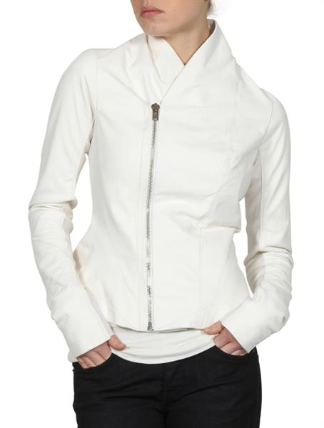 white cow leather jackets for women