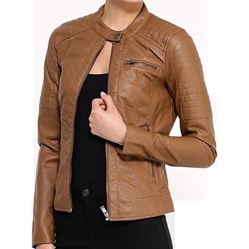 Ladies Cow Leather Jacket