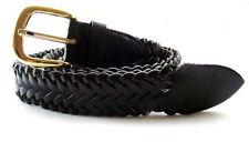 Leather / Cotton Blend, Black
