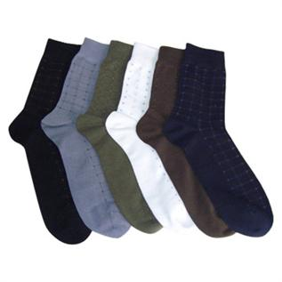 Socks:100% Cotton, White, Black, Dark Blue, Brown
