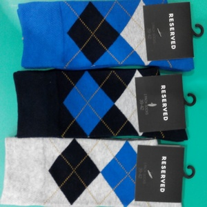 Socks:70% Combed Cotton / 27% Polyester, 3% Elastane, Gray, Black, Blue