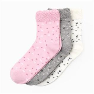 Socks:Cotton, Red, Brown, White, Pink