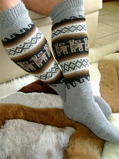 Alpaca wool socks Natural and dyed