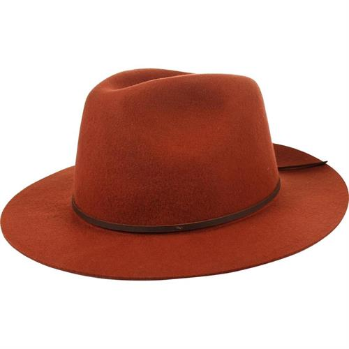 men orange brim hat