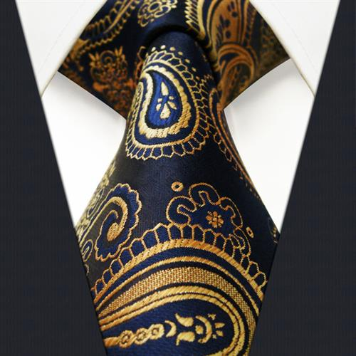 Men Woven Silk 7 Fold Neck Ties
