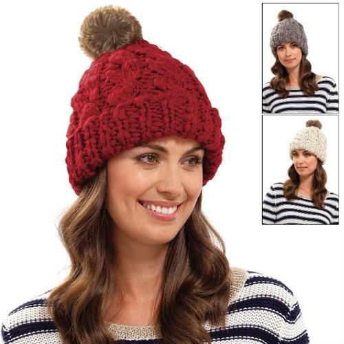 Ladies Cable Knit Beanies