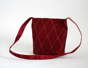 red silk bag