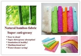 Cleaning 100% Bamboo washcloth, Knitted, No need detergent can clean anywhere
