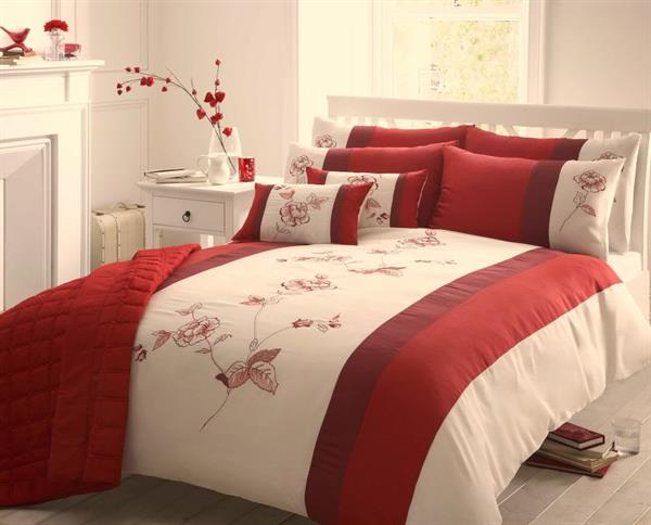Bedroom furnishing bed sheets bedroom furnishing bed for Red cream bedroom designs