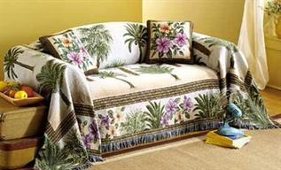 Sofa Covers : Cotton, Polyester, Woven, Stain Resistant