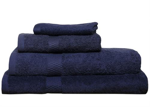 cotton navy blue bath towels