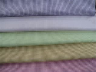 Shirting Fabric:100 GSM and above, Cotton, Dyed, Plain, Checks, Stripes