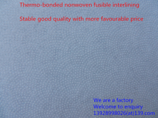 23GSM, 100% polyester or polyester with nylon, Thermal Bonded, garments accessories